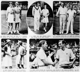 historic Wimbledon illustration