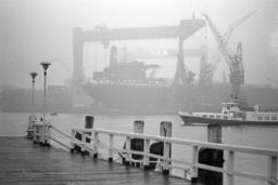 Dense fog over the Kiel Fjord