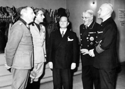 Werner Lorenz, Anfuso, Oshima Hiroshi, Otto Meissner and Foerster at an evening event