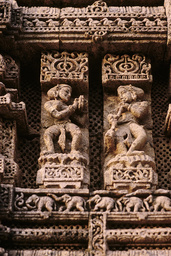 Konarak, Sonnentempel, Musikantinnen / Reliefs - Konarak, Sun Temple, Musicians / Reliefs - Konarak, temple du Soleil, musiciennes / Relief