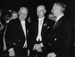 Hjalmar Schacht at a reception of the Berlin's Chamber of Commerce and Industry, 1937
