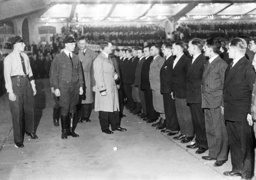 Adolf Hitler with SA men in the Berlin Sport Palace, 1932