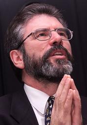 SINN FEIN LEADER GERRY ADAMS SPEAKS ABOUT IRA DECOMMISSIONING