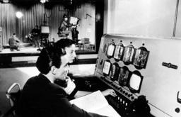 Television studio of NWDR in Hamburg - 1953
