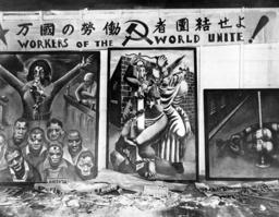 Global economic crisis: Destroyed paintings in Los Angeles, 1930
