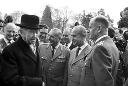Chancellor Adenauer and officers