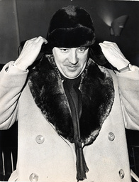Desmond Morris Arrives Home From Moscow Wearing A Fur Hat. Desmond Morris (born 24 January 1928 In The Village Of Purton North Wiltshire Uk) Is Most Famous For His Work As A Zoologist And Ethologist But Is Also Known As A Surrealist Artist And Author