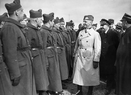 General Wladyslaw Sikorski (1881-1943) Inspecting Members Of The New Polish Army Which Is Being Formed In France.