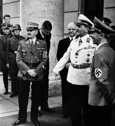 Franz Ritter von Epp with Joseph Goebbels before the Haus der Kunst, 1940