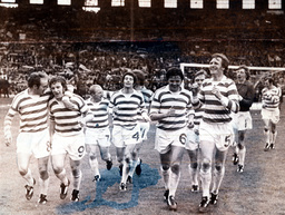 Celtic V Dundee United : Scottish Fa Cup 1973/1974 (l-r) Harry Hood Deans Jimmy Johnstone Murray Kenny Dalglish Mccluskey David Hay Billy Mcneill Connaghan And Jim Brogan. Final Score Celtic 3 Dundee United 0