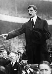 Eamon de Valera during the election campaign, 1932