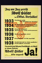 Plakat z. Volksabst./Anschluß Österreich - Poster on Referendum 'Anschluss' / 1938 -