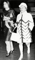 Sandie Shaw Leaving Heathrow Airport With Her Manager Evelyn Taylor