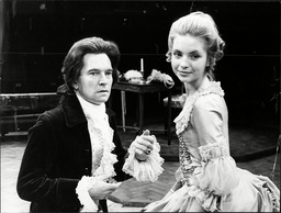 Actors Tom Courtenay And Judy Baker In 'the Rivals' At The Royal Exchange Theatre Manchester.