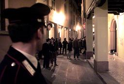 ITALIAN CARABINERI CONDUCT INVESTIGATIONS AT THE SITE OF A KILLING IN BOLOGNA