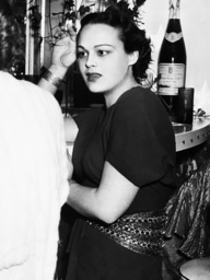 Katherine DeMille, at a party at Mitchell Leisen's house, March 1936