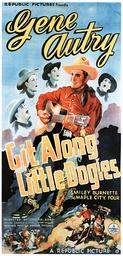GIT ALONG LITTLE DOGIES, center: Gene Autry, 1937.