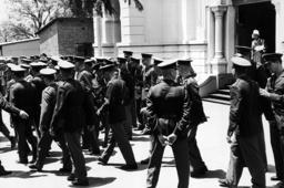Winnie Mandela and Policemen