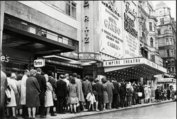 Queues Outside The Empire Cinema In Leicester Square London To See Film Camille