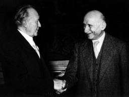 Adenauer and Schuman in Strasbourg
