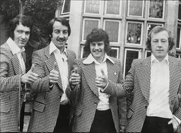 Newcastle United Footballers At Selsdon Park Hotel Hotel L To R Tommy Cassidy Frank Clark Stuart Barrowclough And John Tudor.