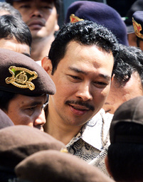 HUTOMO TOMMY MANDALA PUTRAARRIVES AT CENTRAL JAKARTA COURT