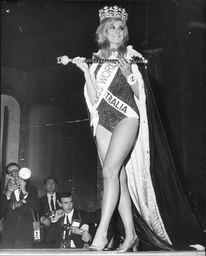 Penelope Plummer The 1968 Miss World At The Lyceum.