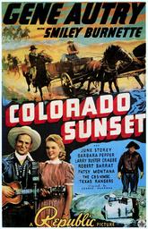 COLORADO SUNSET, from left: Gene Autry, June Storey, Smiley Burnette, 1939.