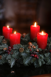 Advent candles - A