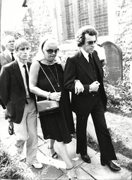 Diana Dors (dead May 1984) And Husband (dead October 1984) With Andrew Ray At The Funeral Of Violet Kray The Mother Of The Kray Brothers