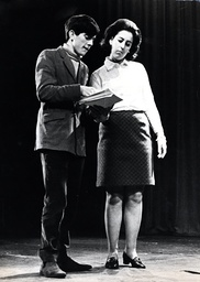 Dame Eliza Manningham-buller Pictured On Stage With Gyles Brandreth In 1968.