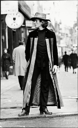 Michael Fish Fashion Designer Posing In Long Coat 1970.