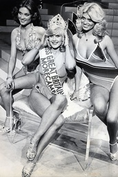 Patricia Morgan (centre) Miss Great Britain 1978 At Left Is Michelle Hobson (2nd) And Right Is Gaye Hopkins (3rd)