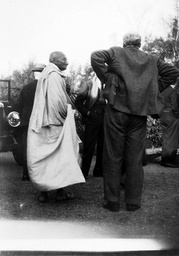 MAHATMA GANDHI VISITING BOAR'S HILL, OXFORD, BRITAIN - 1938