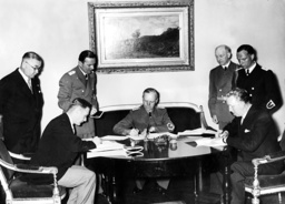 Signing the non-aggression pact with Estonia and Latvia