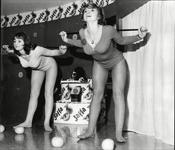 Jackie Hearnden And Shereen Morgan Demonstrate Weight Loss Exercises At Ideal Home Exhibition 1974.
