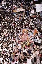 Hinduismus, Ganesh Chaturti in Bombay / Foto - - Hindouisme, Ganesh Chaturti à Bombay