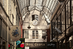 France. Paris (9th district). The Jouffroy passage and its shops (built in 1845 in the continuation of the passage of the Panoramas)