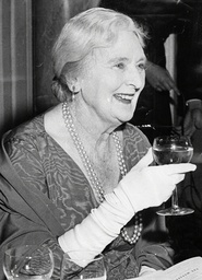 Actress Dame Sybil Thorndike Seen A A Party To Celebrate The 10 Year Run Of Agatha Christie's Play 'the Mousetrap'. Dame Sybil Thorndike (24 October 1882-9 June 1976).