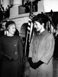 First Ladies in front of White House