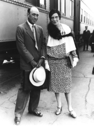 Director and screenwriter William C. deMille, left, and his wife, screenwriter Clara Beranger, after