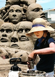JAPAN-SAND ART
