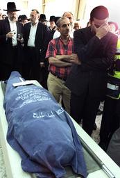 MOURNERS ATTEND FUNERAL OF SLAIN JUDITH SHOSHANA GREENBAUM IN JERUSALEM