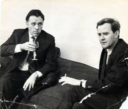 Actor Richard Burton With Author John Le Carre