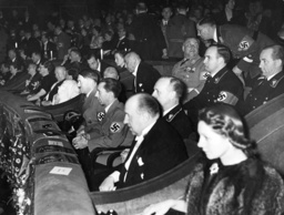 Joseph Goebbels and Hitler at the premiere o