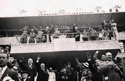 Fuehrer box at the opening of the Olympic Games, 1936