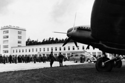 Opening of the Rhine-Main airport in Frankfurt, 1936