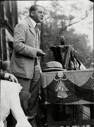 Lord Birkenhead (1872 Oo1930) Addressing A Conservative Demonstration At Wentworth Castle Near Barnsley Yorkshire. 'you Are Following False Prophets From Moscow'. The Rt Hon. Frederick Edwin Smith Best Known As F. E. Smith Was A British Conservativ