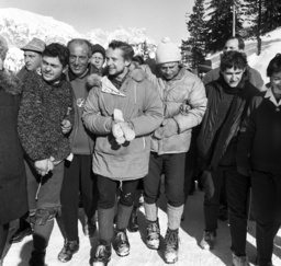Party for German mountaineers in Misurina