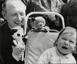 Puppeteer Of Sooty Harry Corbett With Crying Baby Harry Corbett Obe (28 January 1918 Bradford West Yorkshire A 17 August 1989) Was A British Puppeteer Known As The Creator In 1948 Of The Long Running 'sooty' Glove Puppet Character. He Was Born In B
